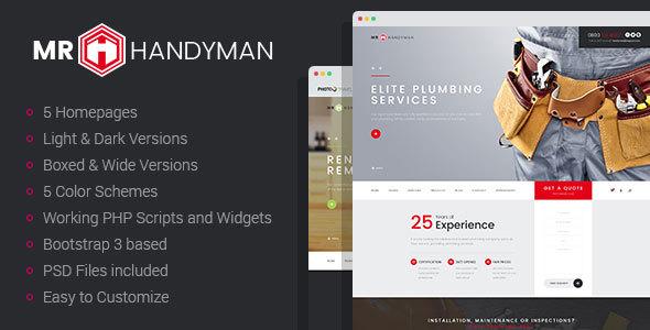 Mr.Handyman - Plumber, Carpenter, Roofing, Renovation HTML template