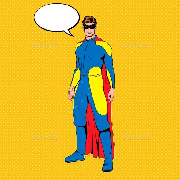 Vector Comic Superhero