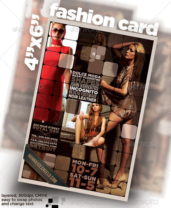 "4""x6"" card / flyer with Fashion Theme - Corporate Flyers"