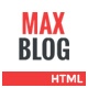 Max Blog - Fully Responsive Blog Template