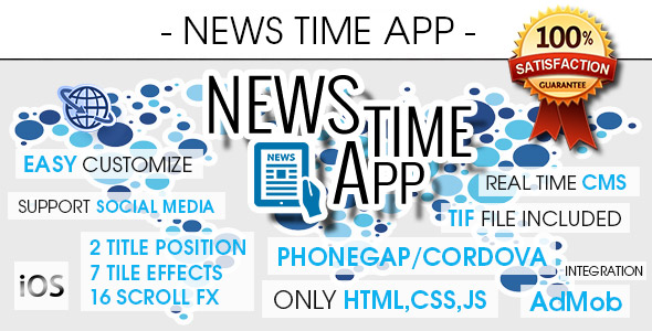 News Time App With CMS - iOS - CodeCanyon Item for Sale