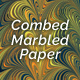 Combed Marbled Paper - Tria
