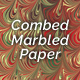 Combed Marbled Paper - Quattuor