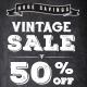 Chalk Vintage Sale Web Banner Ads
