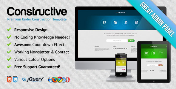 Constructive - Responsive Under Construction Page - Constructive Template Preview