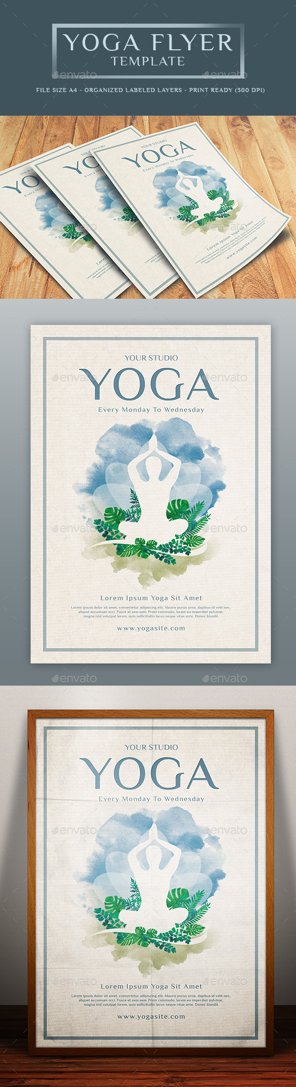 Yoga Flyer Graphics, Designs & Templates from GraphicRiver