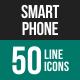 Smartphone Line Icons-Graphicriver中文最全的素材分享平台