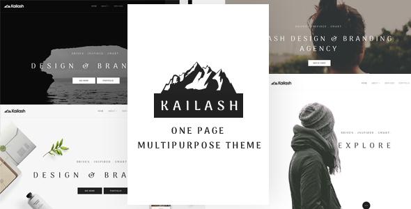 Kailash - Minimal & Versatile Multi-Concept One page Theme