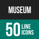 Museum Line Icons-Graphicriver中文最全的素材分享平台