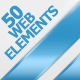 50 Web ELEMENTS - GraphicRiver Item for Sale