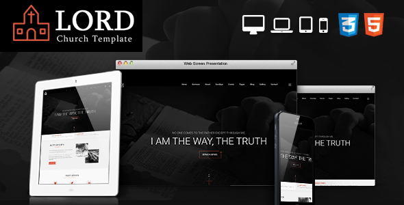Lord Church Responsive Church Website Template