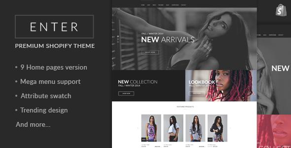 JMS Enter - Responsive Shopify Theme