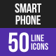 Smartphone Line Inverted Icons