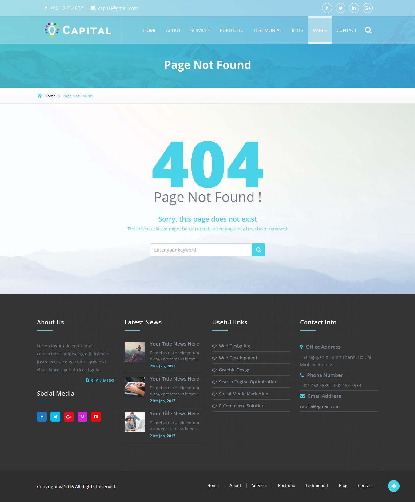 capital creative html template by viaviwebtech