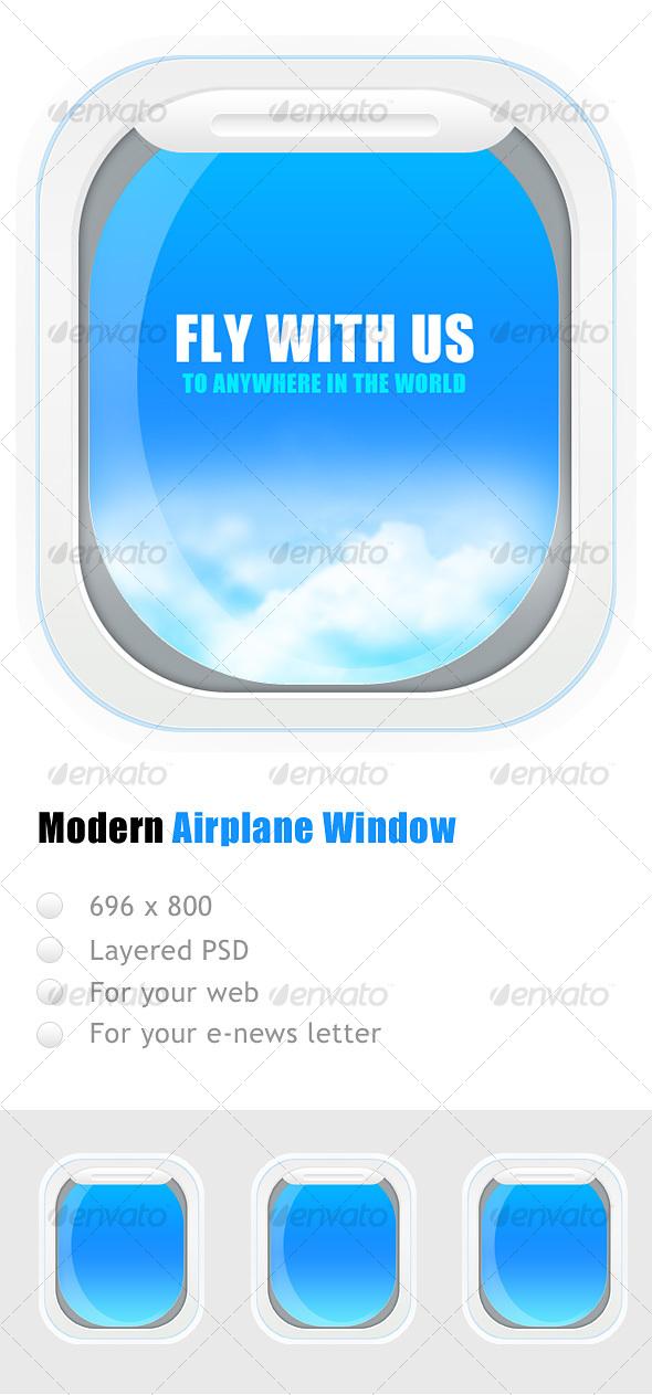 GraphicRiver Airplane window 69296