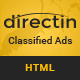 DirectIn – Classified Ads Listing Template for Directory, Realty, Property and Yellow Pages