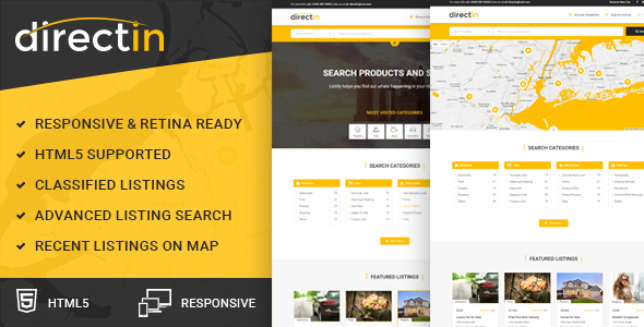 Directin - Multipurpose Responsive HTML Template for Listing, Directory, Jobs Portal