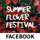Flower Festival Event Facebook Covers and Post Banners