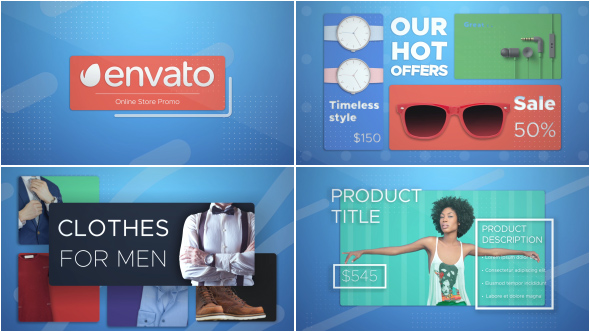 Online Shop Promo (Commercials) After Effects Templates | F5