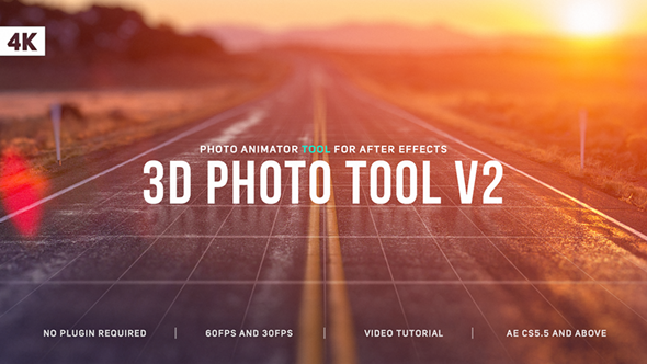 3D Photo Tool 圖片轉立體空間感動-Videohive中文最全的AE After Effects素材分享平台