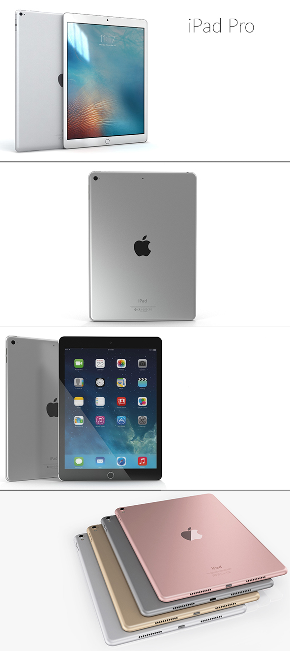 iPad Pro 12.9-inch - 3DOcean Item for Sale