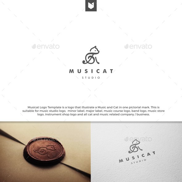 Musicat | Music Cat Logo