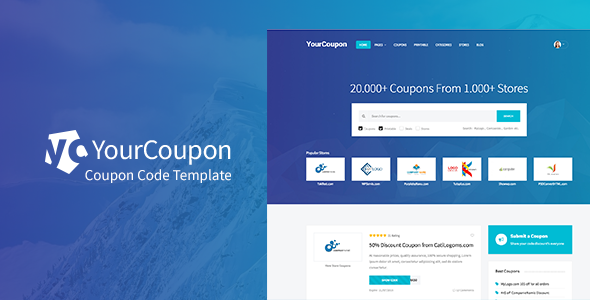 YourCoupon | Coupon Code, Discount, Deal Responsive Site Template