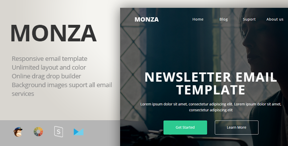 Image of Monza - Multipurpose Responsive Email Template + Stampready Builder