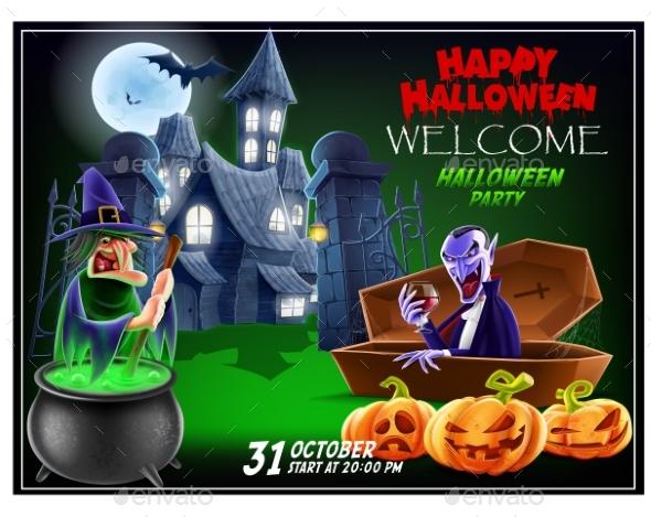 Halloween Invitation Flyer.