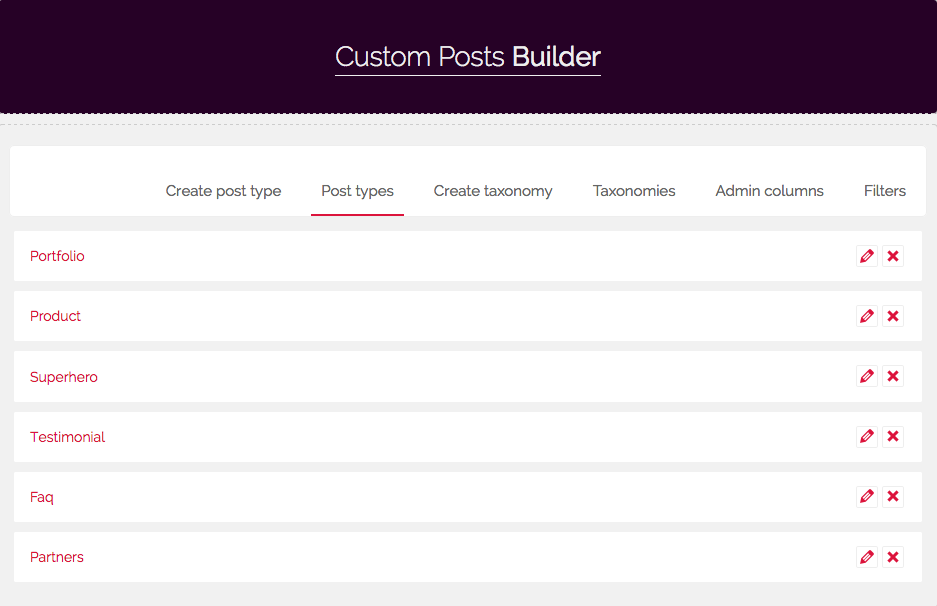 Custom posts builder pro by wpdevstudio codecanyon for Builders unlimited