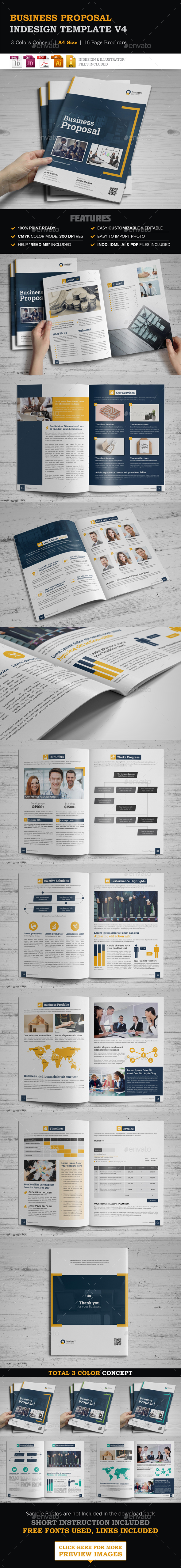 Indesign Proposal Graphics Designs Templates