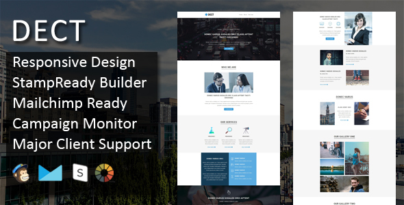 DECT - Multipurpose Responsive Email Template + Stampready Online Builder Access