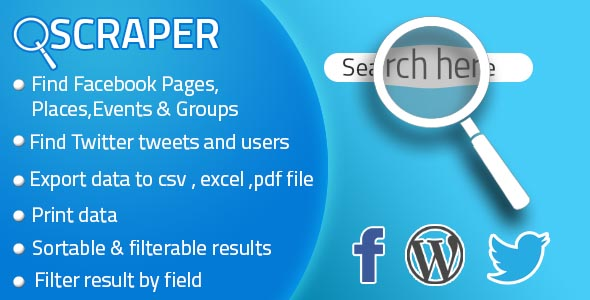 Facebook Twitter Scraper For Business (WP plugin)