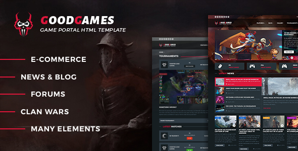 GoodGames - Portal / Store HTML Gaming Template