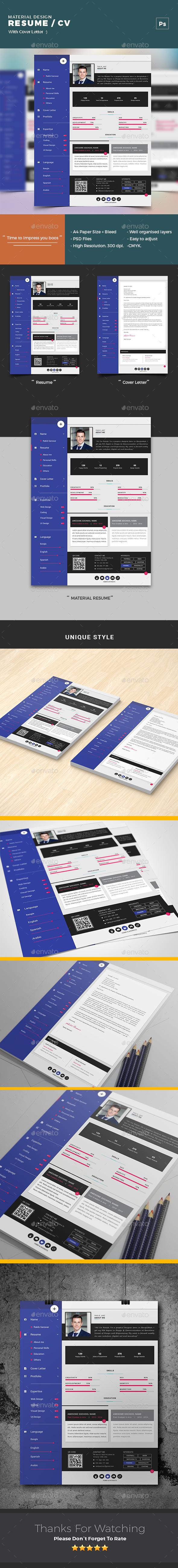 Material Design Resume/ CV