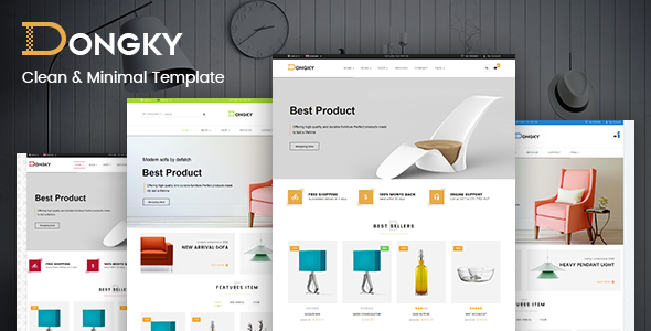 Image of Vina Dongky - Clean & Minimal VirtueMart Joomla Template