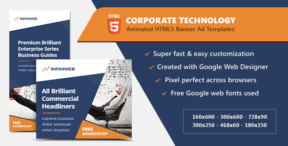 Download Corporate Technology Banners - HTML5 Ad Templates nulled download