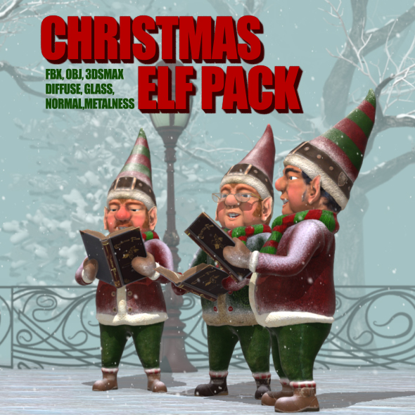 Christmas Elves Pack - 3DOcean Item for Sale