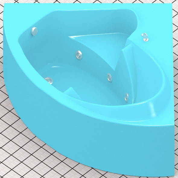 Generic hydromassage bath - 3DOcean Item for Sale