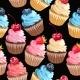 Seamless Cupcakes And Polka Dot