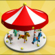 Carousel Low Poly
