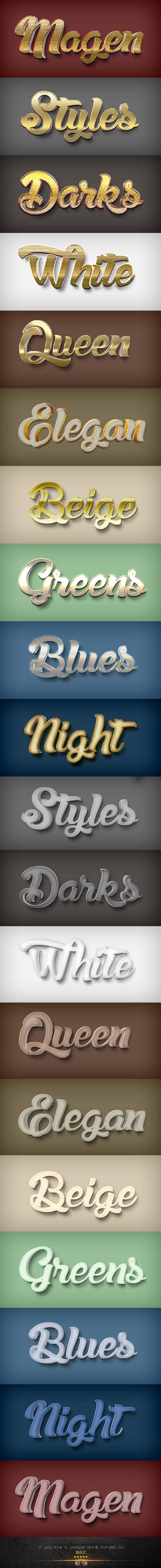 20 3D Styles V.14A