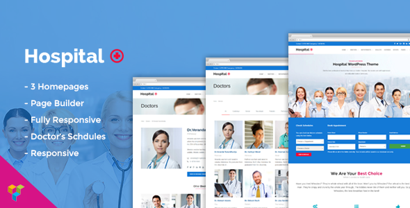 Hospital Medical Doctor WordPress Theme - Hospital+