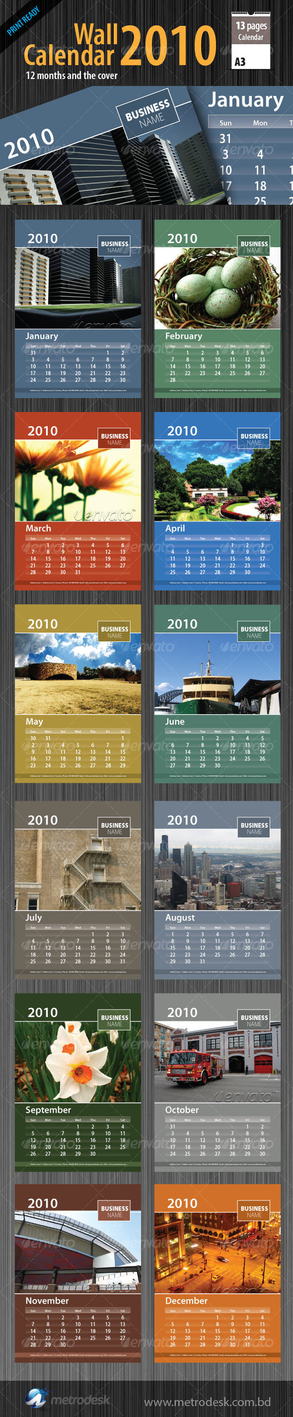 GraphicRiver Wall Calendar 2010 [ 12 page ] 69392