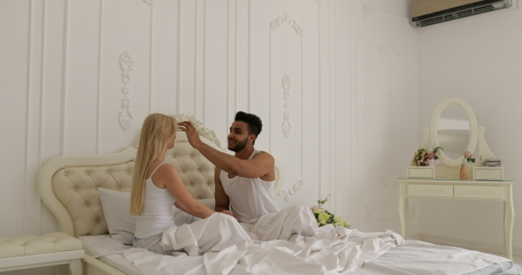 Embracing for Love pictures in bed