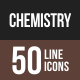 Chemistry Line Multicolor Icons