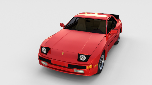 Early Porsche 944 with interior rev - 3DOcean Item for Sale