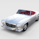 Fully modeled w interior Mercedes 190SL rev