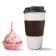 Cup of Coffee with Cupcake