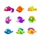 Colorful Cartoon Tropical Fish Collection